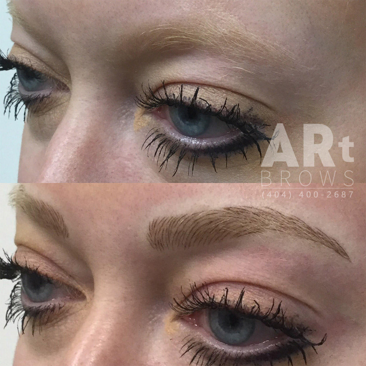 simulated  eyebrows