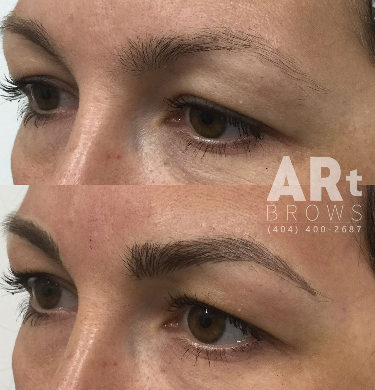 art brows before and after 3d eyebrows