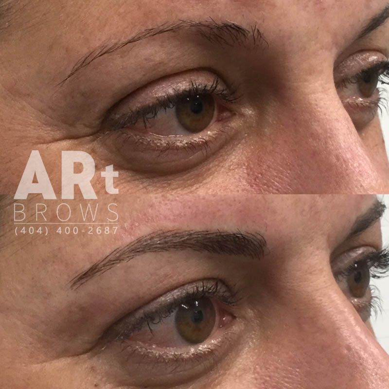 before after microblading