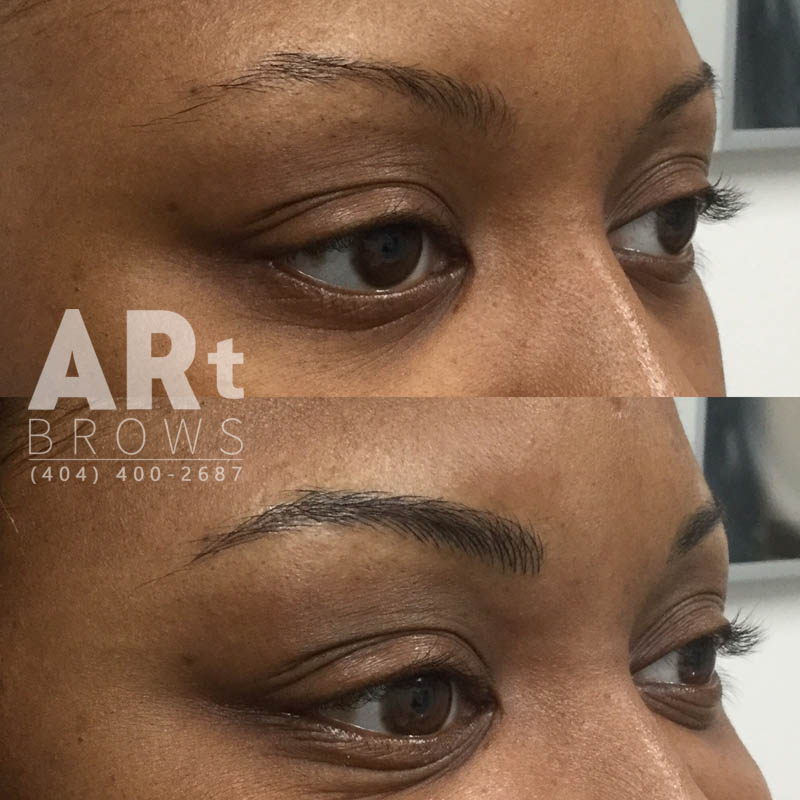 before and after microblading procedure