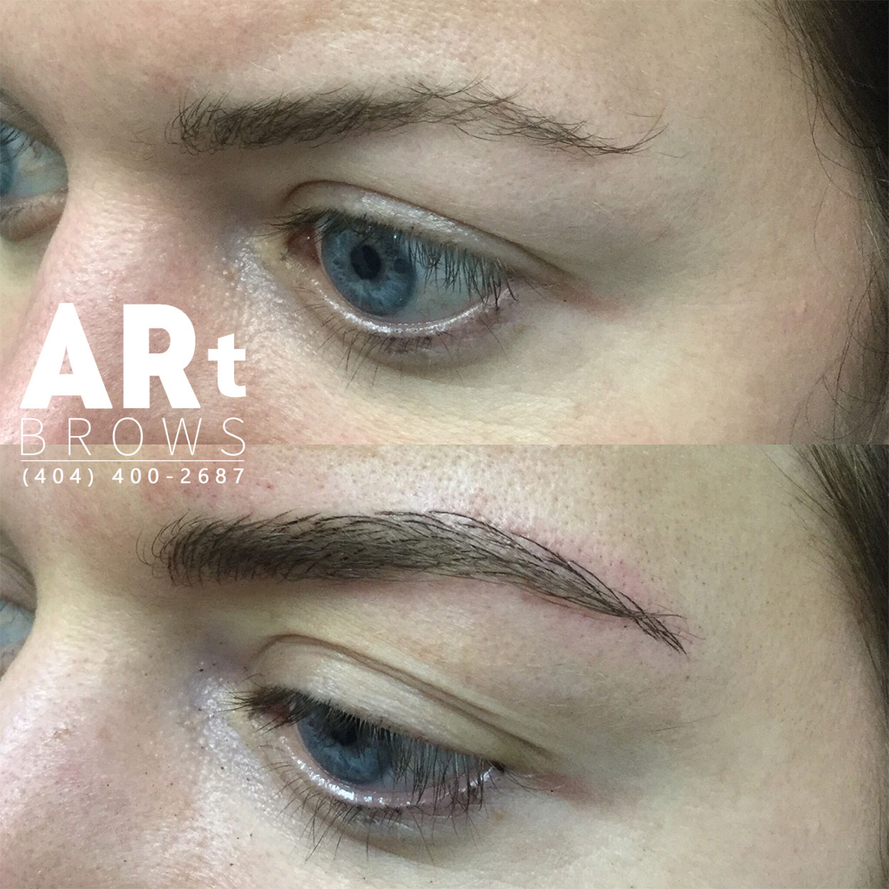 before and after microblading 3d atlanta
