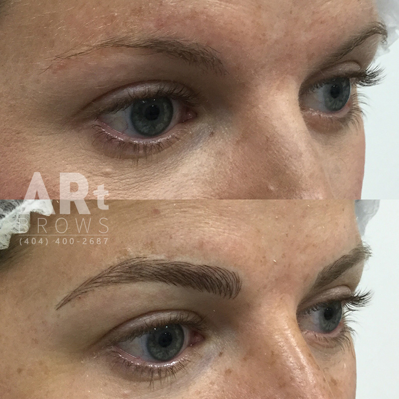 before and after microblading atlanta