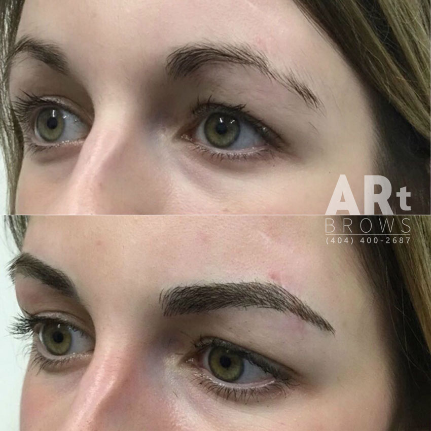 microblading fills in thinning eyebrows