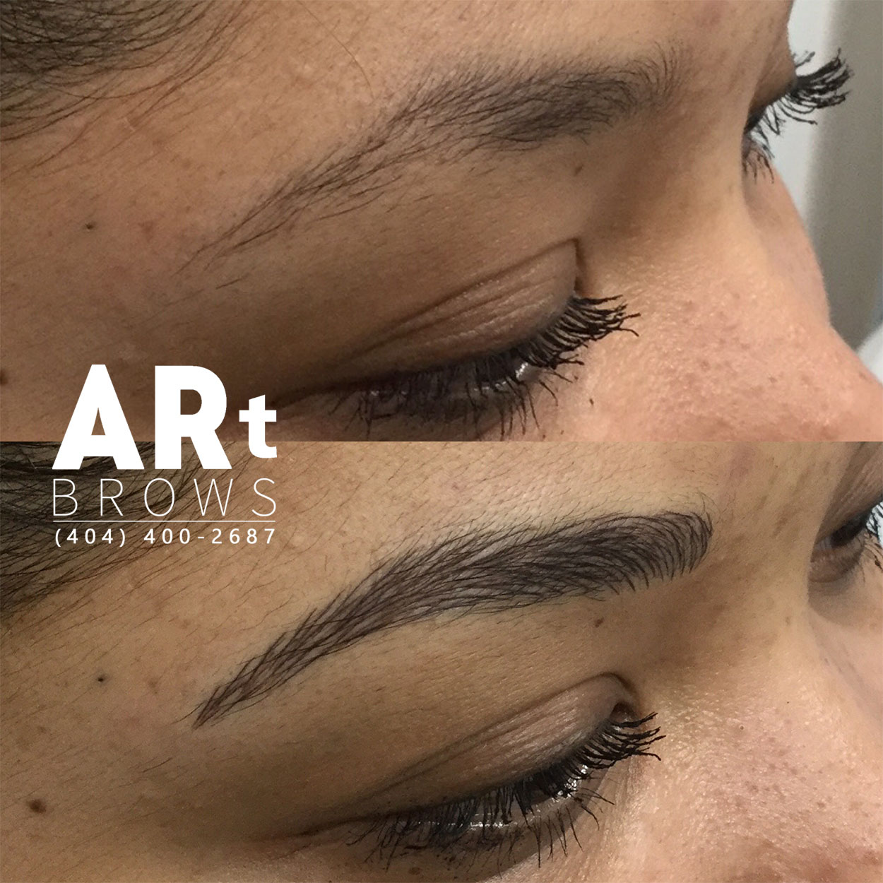 natural look eyebrow embroidery